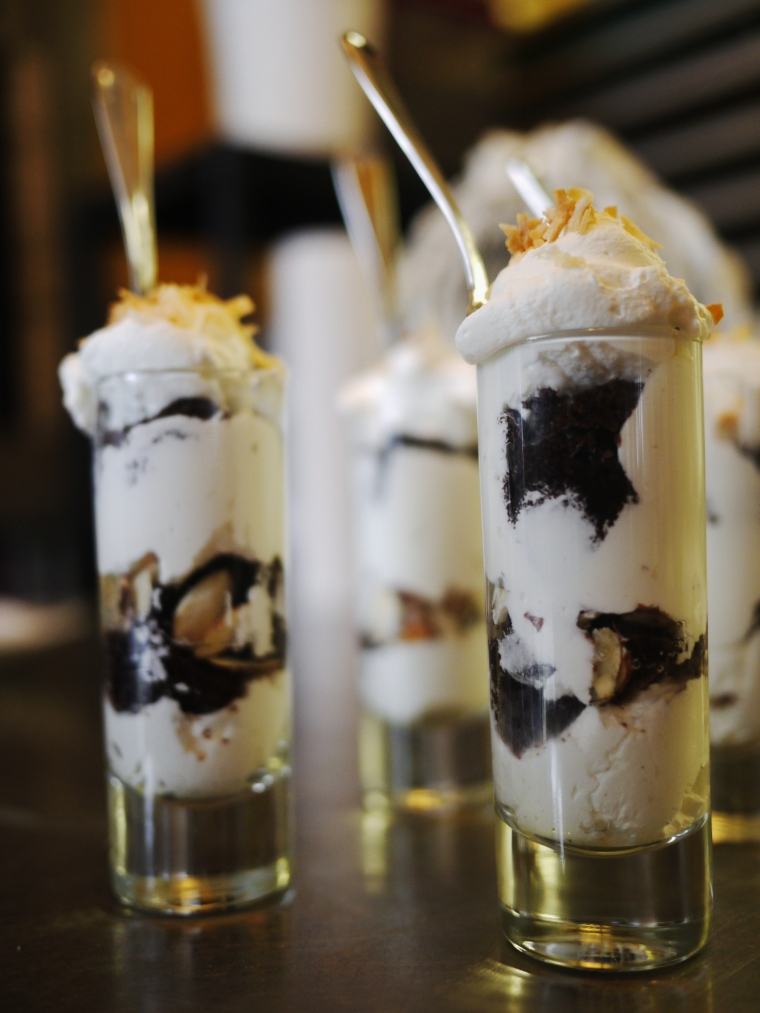 Toasted Almond Dessert Shooters